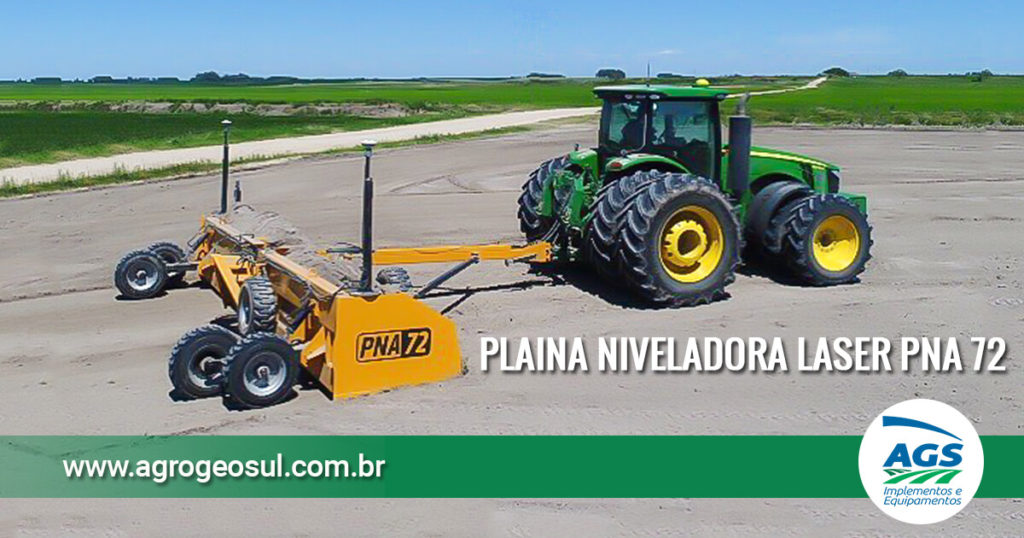 Plaina Niveladora a Laser PNA 72 Agrimec
